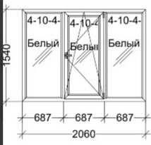 Металопластиковое окно REHAU 1540х2060