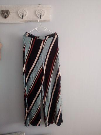 Spodnie w paski, zara, szerokie, m 38 nowe z metka