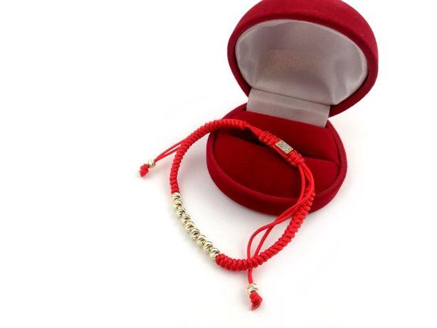 Nowa złota bransoletka NA SZNURKU KULKI 585 2,66G