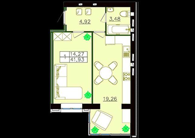 1-комнатная квартира в новом доме
