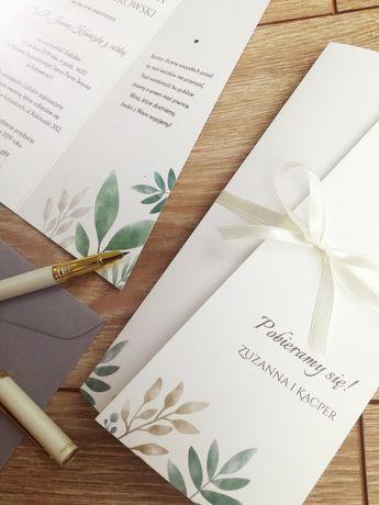 Zaproszenia ślubne, zawiadomienia