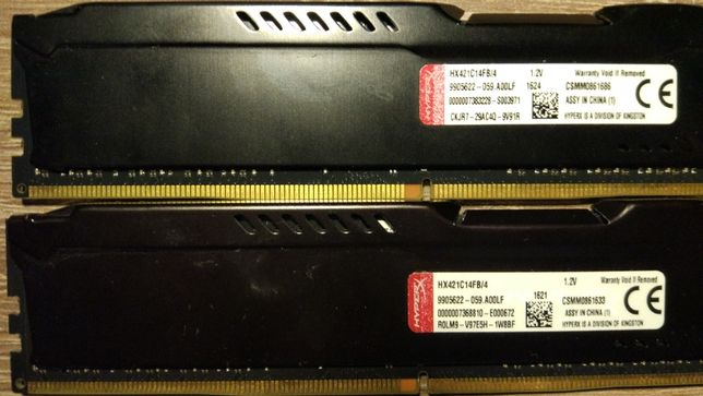 Pamięci RAM DDR4 Kingston HYPERX FURY 8GB (2x4GB)