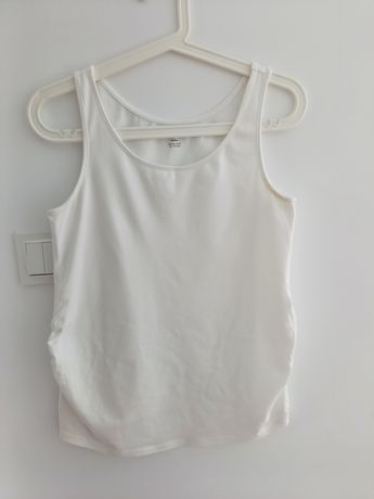 Biały top ciążowy H&M mama rozmiar M