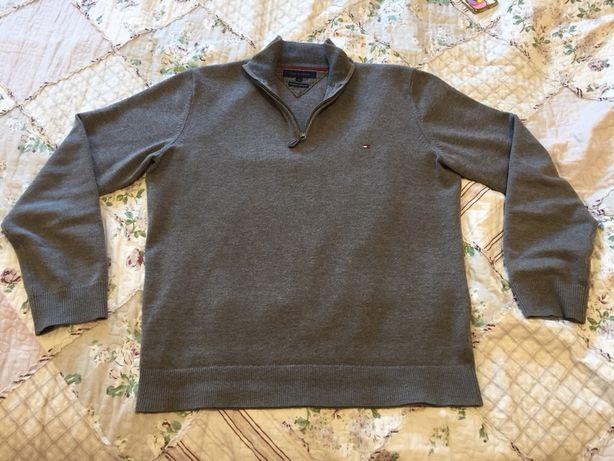Sweter męski Tommy Hilfiger szary XL oryginalny