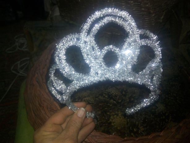 Новогодняя корона-снежинка для девочек
