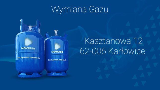Wymiana gazu punkt wymiany butli 24h/7dni