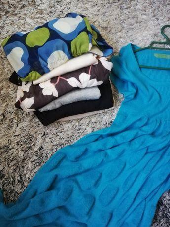 Odzież ciążowa 7szt. bluzki tuniki sukienka
