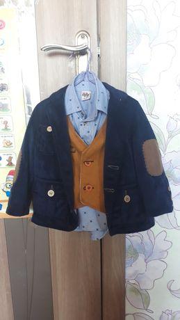 Нарядный костюм.Пиджак,брюки,рубашка,жилетка 2- 3года