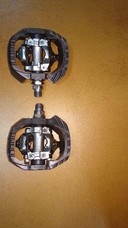 Педали контактные shimano DX