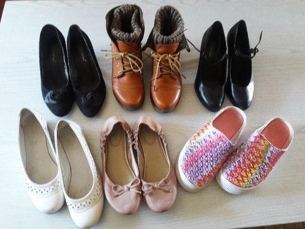 buty damskie - rozmiar 37 - 5 par