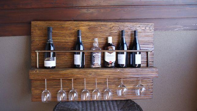 Stylowy stojak (regał) na wino (whisky)