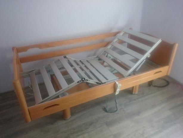łóżko rehabilitacyjne domowe, w pełni elektryczne z nowy materacem