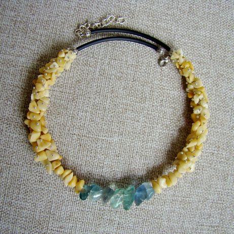 Ожерелье из оникса и нефрита
