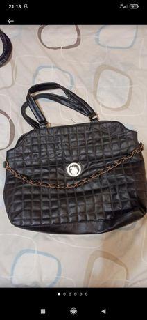 Классная стеганная черная сумка