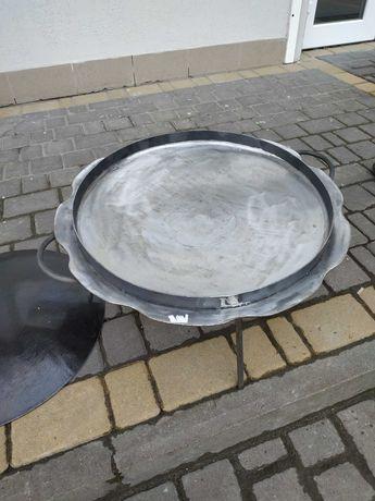 Сковорода Ромашка з бортиком з оригінального диска борони 56 см+кришка