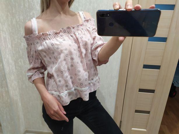 Новая Блуза летняя, блузка хб, натуральная, легкая майка