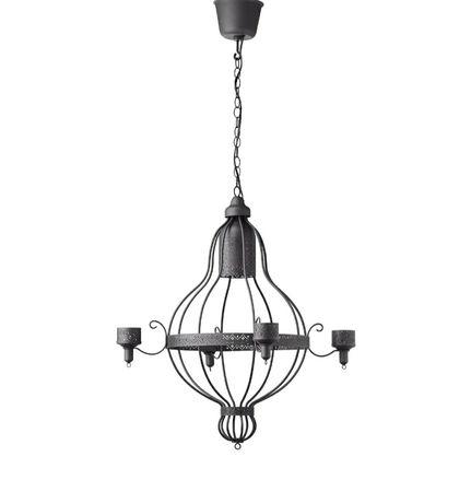 Żyrandol lampa wisząca sufitowa czarny grafitowy Ikea Appelviken