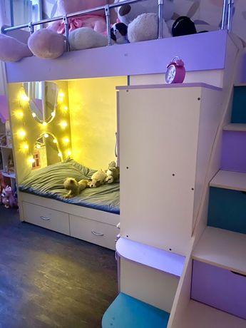 Двухэтажная авторская кроватка