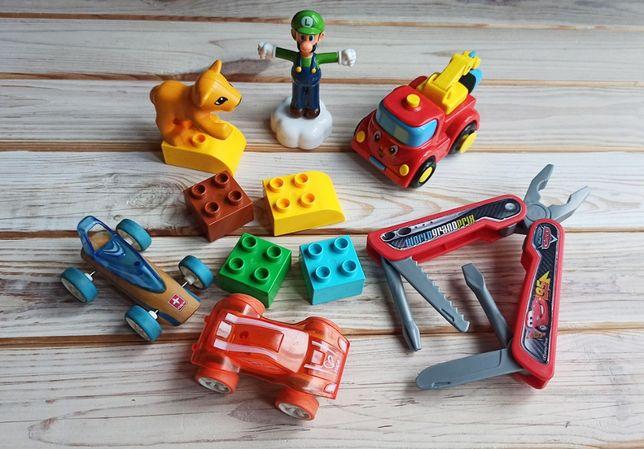 Набор игрушек, 3+. Lego Duplo, машинки Hape, мультитул Тачки Smoby