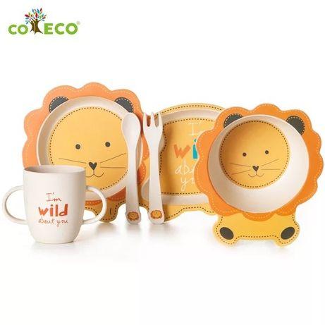 Набор детской посуды из бамбука (бамбукового волокна) Coeco