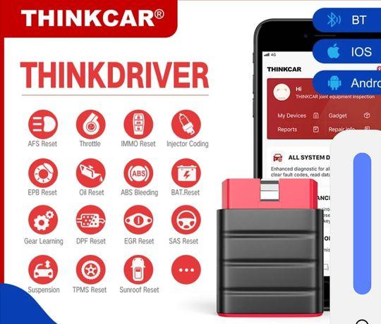 Máquina de Diagnóstico Auto Thinkdrive Launch Multimarcas Bluetooth