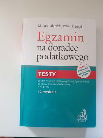Egzamin na doradcę podatkowego 2 książki:testy i pyt. otwarte