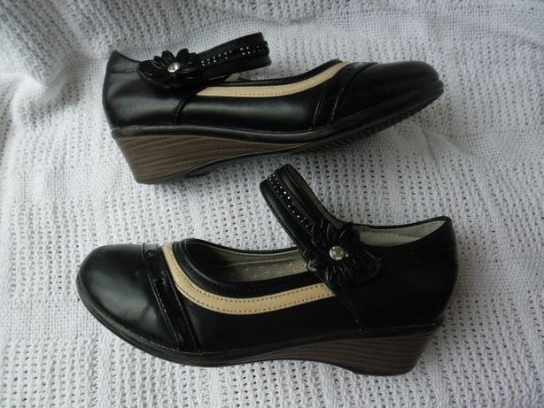 Комфортные черные туфли 34р