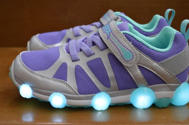 Светящиеся кроссовки Stride Rite Leepz. Оригинал. Стелька Memory