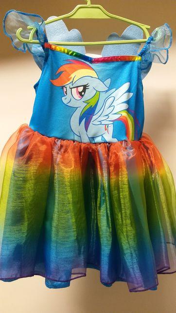 Rainbow Dash strój karnawałowy kostium przebranie Pony sukienka 92/98