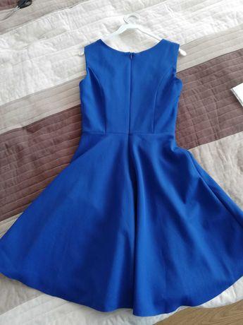 Granatowa sukienka r. 36