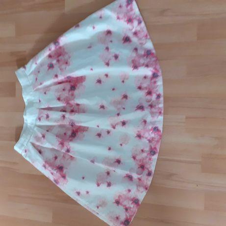 Spódnica biała w delikatne kwiaty m/l