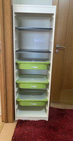 Estante IKEA 2 prateleiras + 3 caixas