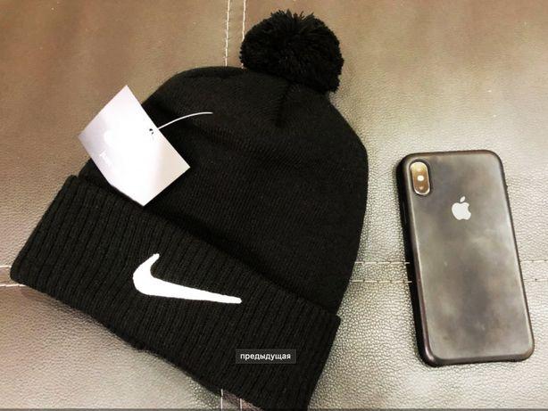Классная теплая качественная шапка найк / Новая в упаковкте