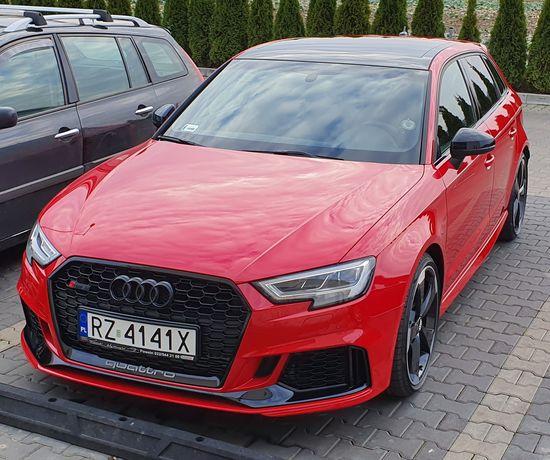 Wynajem aut sportowych, wypożyczalnia samochodów AUDI RS3 Rzeszów
