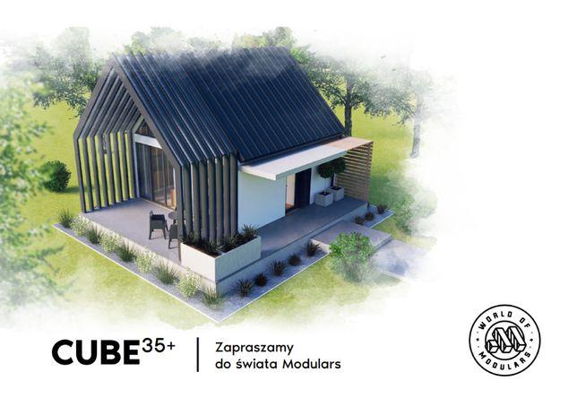 """Dom modułowy ,,CUBE 35+"""" 35m2 z antresolą"""