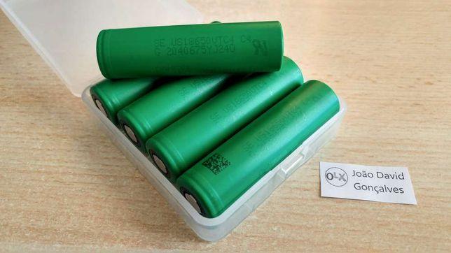 Pilha bateria 18650 Sony VTC4 2100 mAh 30A recarregável