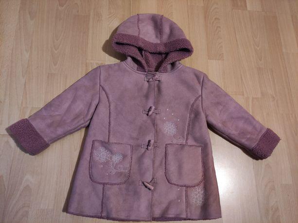 Kożuszek kurtka zimowa płaszczyk kożuch dla dziewczynki  rozm. 116