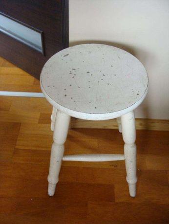 taboret biały drewniany wys 45 cm wysyłka