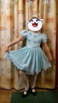 Платье на 5-9 лет, дл.84,рост до 155см, ПОГ-40, хорошее сост.