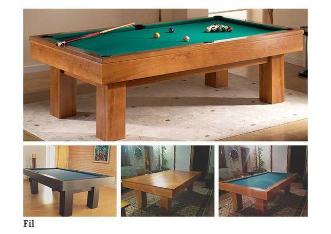 Bilhares Capital - Bilhar Snooker Fil com Tampo Jantar
