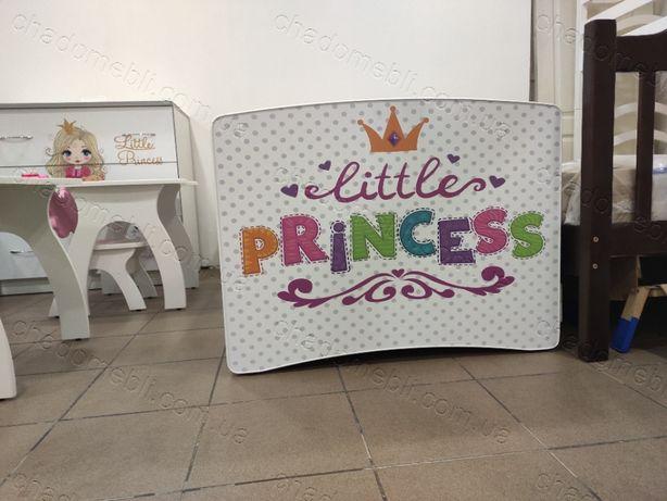 Ліжко з бортиком для дівчинки кровать для девочки принцеса КіндерКул