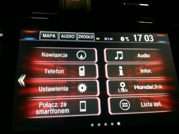Konwersja Polskie Menu Honda USA CANADA