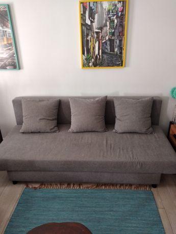 Sofá cama cinzento