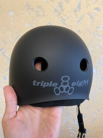 Шлем Triple Eight Triple8 Sweatsaver Helmet All Black каска котелок