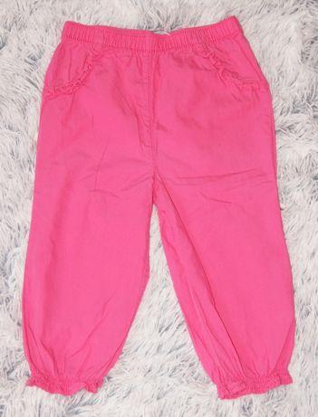 F&F spodnie różowe cienkie lato r. 92 cm