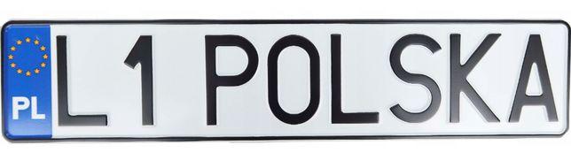 Polska tablica rejestracyjna aluminowa