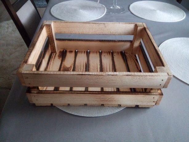 Skrzynka skrzynia ozdobna drewniana 40x30x12 na owoce meble prezent