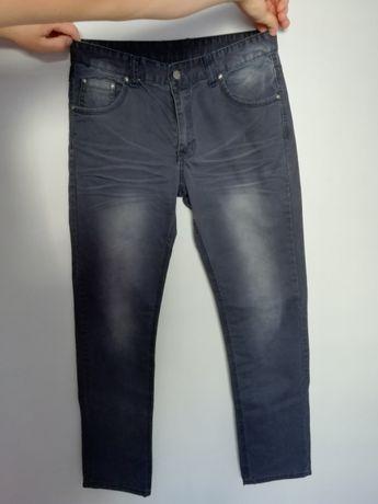 Spodnie jeansy slim rurki nowe 33 ciemne cieniowane