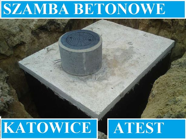 Szamba betonowe na ścieki 10m3 inne szambo zbiornik zbiorniki Katowice