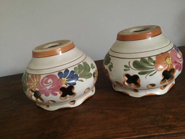 Klosz ceramiczny, malowany, 1/2 sztuk , PRL-retro, vintage